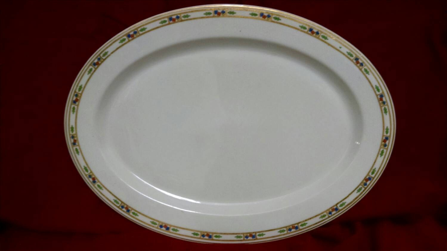Platter made by syracuse china in the popular orleans pattern Most popular china patterns