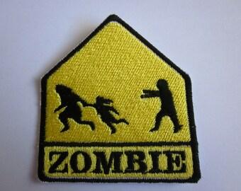 Zombie school crossing Iron on patch