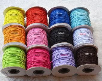 100Meters 1MM Elastic Cords 12 Colors For Choose T0001