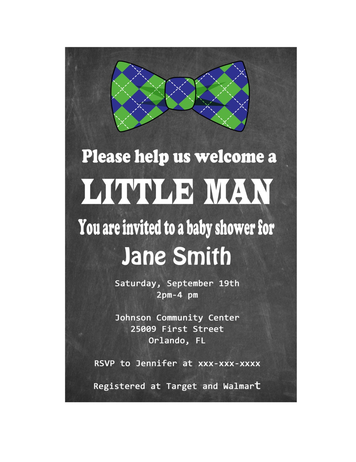 bow tie baby shower invitation little man by digitaldesignsbydawn