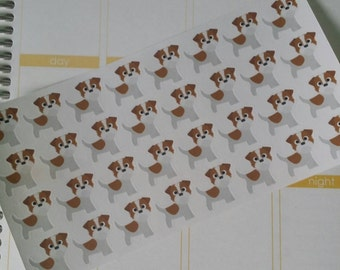 Jack Russell Stickers! Dog Stickers! Perfect for your Erin Condren Life Planner, calendar, Paper Plum, Filofax!