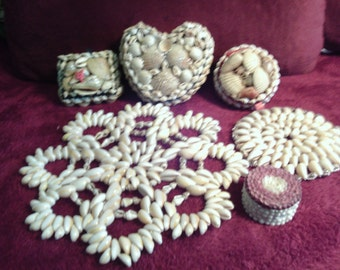 Free Shipping..Sea Shell Boxes