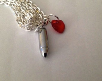 Bullet For My Valentine Necklace Red Heart