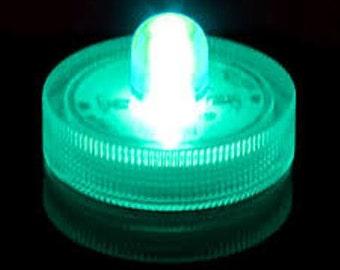 10 TEAL Waterproof Wedding Underwater Battery Sub LED White Lights