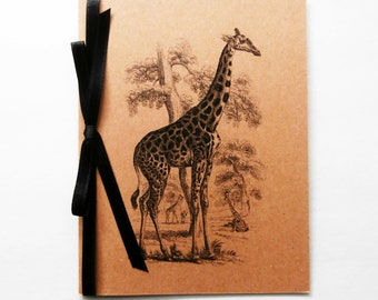 Giraffe Card   Blank Note Card   Giraffe Note Card   Giraffe Stationery   African Animal   Unique Invitation   Giraffe Greeting Card