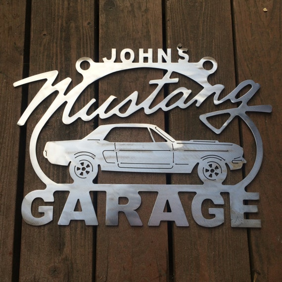 Ford Garage Signs : Personalized custom ford mustang sign by moonlightmetaldesign