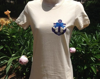 Anchor monogram fitted t-shirt