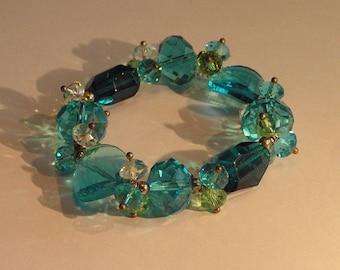 Aqua blue bead bracelet
