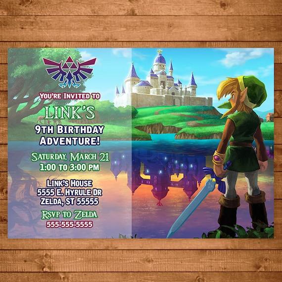 Legend Of Zelda Invitation Link Zelda Invite Zelda