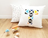 Baby Boy Gift, Baby Letter Pillow cover, Nursery Throw Pillow, Personalized Baby Shower gift, Kids Throw Pillow, Kids Bedding, Kids Decor