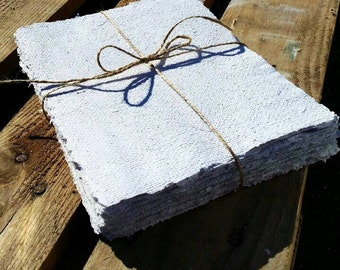 20 sheets Seeded handmade paper