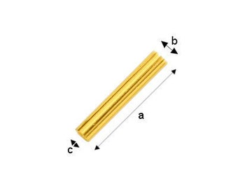 Gold-plated Cut Tube Sterling Silver 925