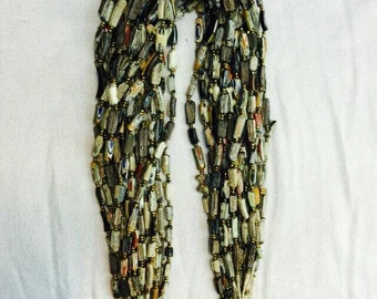 Afghan Antique Ancient Old Gabri Roman Glass Medium Beads String Strand Collectible Middle Eastern Jewelry Making Supplies 羅馬玻璃