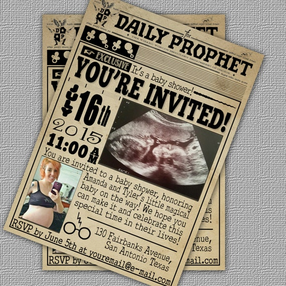 Harry Potter Baby Shower: Custom Harry Potter Baby Shower Invitation //The By