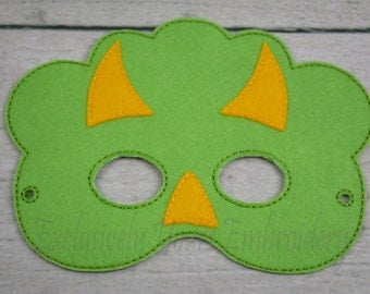 Tri Dino Children's Mask  - Costume - Theater - Dress Up - Halloween - Face Mask - Pretend Play - Party Favor