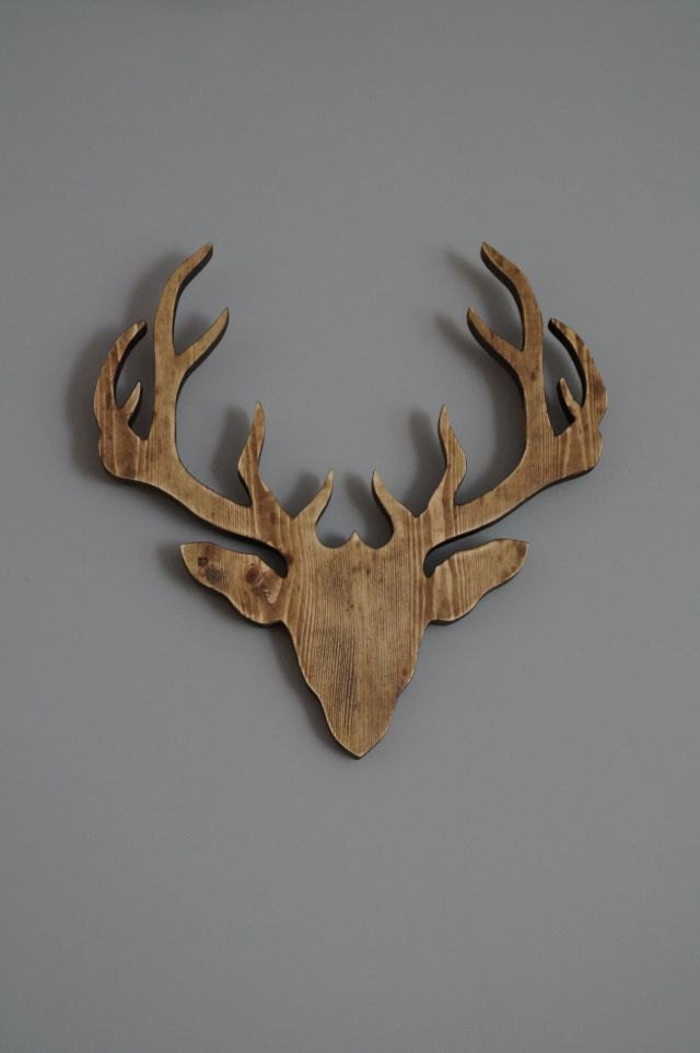 Wall Decoration Deer Head : Wooden deer head wall decoration by pracowniaembe on etsy