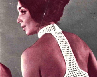 Crochet Dress ... Ladies Summer Dress ... PDF Crochet Pattern ... Party, Resort, Holiday, Wear Anywhere Summer Dress