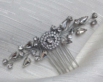 Sparkling diamante bridal hair comb, bridal hair comb, wedding hair comb, bridal headpiece, bridal accessories, wedding hair accessories