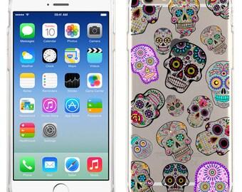 Mini Sugar Skulls For iPhone 6, iPhone 6 Plus, iPhone 5/5s, iPhone 5c Transparent case