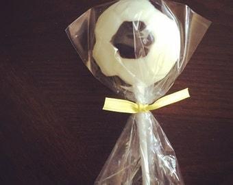 Chocolate Soccer Ball Lolipops