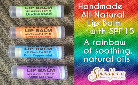 All Natural Nourishing Vegan Lip Balm (SPF15)