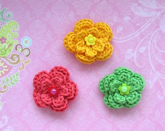 Flower Crochet Pattern - Flower Pattern - Instant Download PDF File