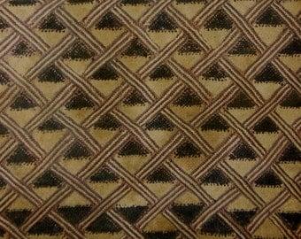 African Tribal Kuba Cloth Cut Pile And Raffia Prestige Cloth, Textile, Currency