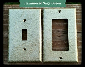 Hammered Sage Green Wall Plates (Switch/Outlet Covers)