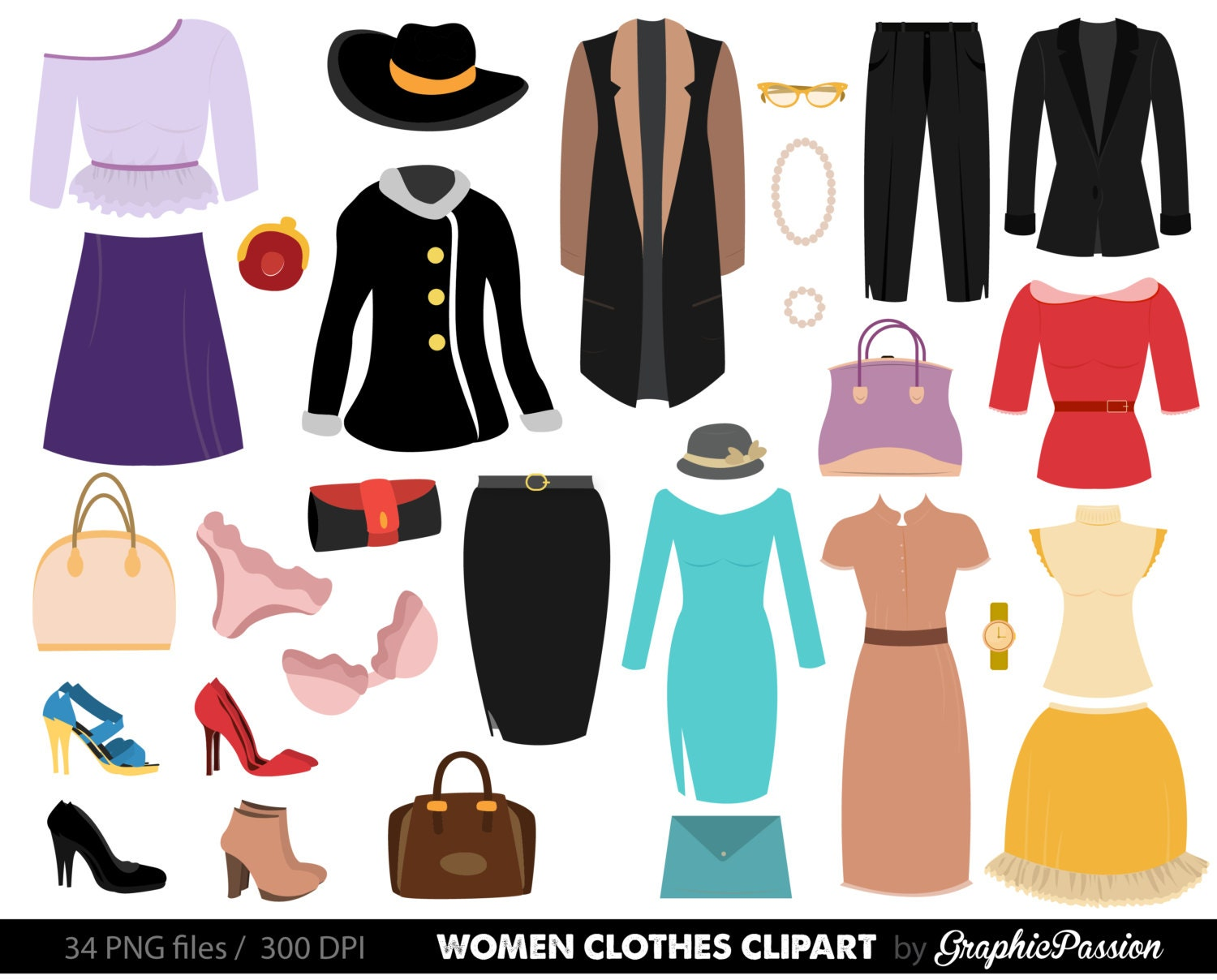 clipart women's clothing - photo #9