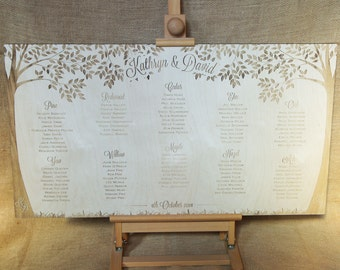 Wooden Wedding Table Plan - Love Trees