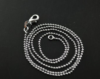 10pc 1.0mm Ball Chains DIY Jewelry Necklace making materials lobster clasp