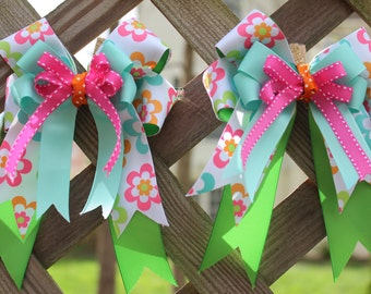 Bright Flowers Horse Show Bows