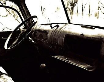 Vintage Car, Chevrolet, Black and White