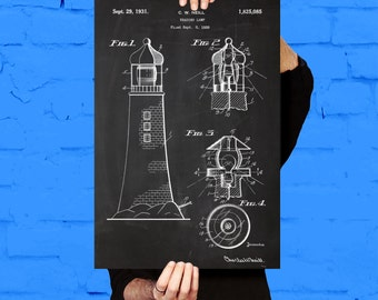 Lighthouse Patent, Lighthouse Poster, Lighthouse Print, Lighthouse Art, Lighthouse Blueprint, Lighthouse Wall Art, Lighthouse Decor,