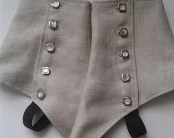 Buff Linen Gentlemen's Spats