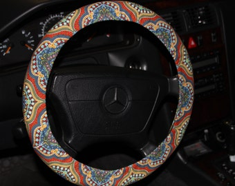 Multicolor Steering Wheel Cover  . Classic Wheel Cover . Women's Wheel Cover .Fashion Wheel Cover. Car Accessories .
