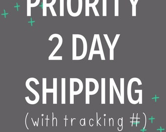 Priority 2 Day Shipping with Tracking #