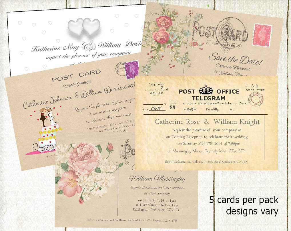 Inserts For Wedding Invitations: Wedding Stationery SAMPLE PACK Wedding Invitations & Inserts