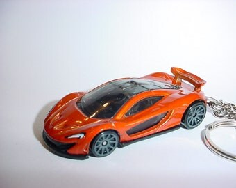 3D McLaren P1 custom keychain by Brian Thornton keyring key chain finished in copper racing trim