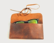 FREE SHIPPING Leather Pouch for iphone 6, 6+, Sunglasses, Tobacco or Pens. Leather Tobacco Case / Pen Holder / Glasses Pouch.