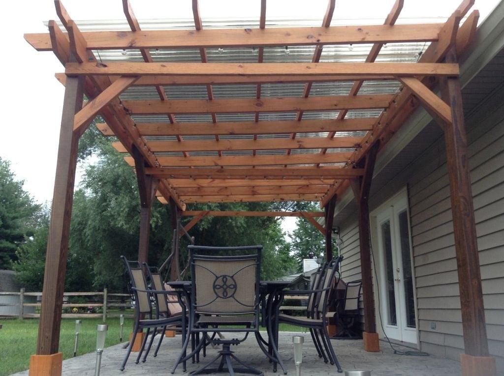 Covered Pergola Plans 12x18' Outside Patio Wood Design