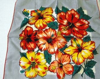 Bright Bold Flowers Hankerchief
