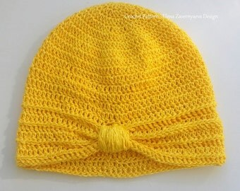 Crochet Pattern - Turban Cap