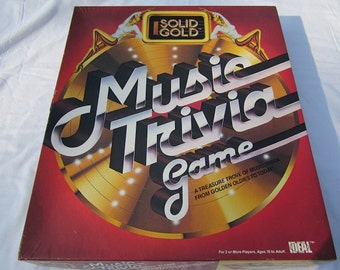 Solid Gold Music Trivia Game-1984 Complete