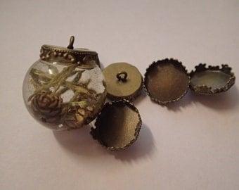 15 mm bead caps for resin jewellery