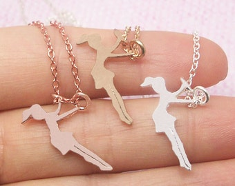Dainty Swinging Girl Necklace in Gold/Silver/Rose Gold NB587