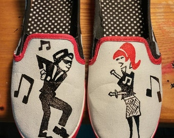 Custom Punk Rock Slip on Shoes
