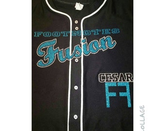 Custom Blinged Baseball Jerseys