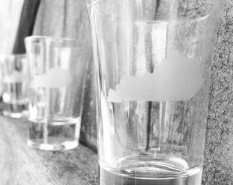 Kentucky Etched Shot glasses
