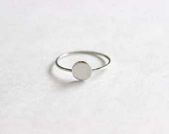 Tiny Circle Ring, Sterling Silver Ring